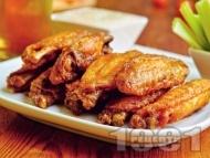 Печени пилешки крилца с майонеза, кимион и галета на фурна